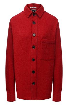 Женская шерстяная рубашка DESTIN бордового цвета, арт. D5W0MAT/W0RKER S0LID FLEECY   Фото 1