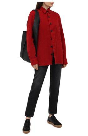 Женская шерстяная рубашка DESTIN бордового цвета, арт. D5W0MAT/W0RKER S0LID FLEECY   Фото 2