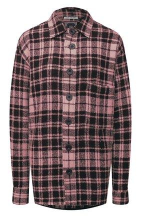 Женская рубашка из шерсти и кашемира DESTIN розового цвета, арт. D5W0MAT/W0RKER GRANT FLEECY   Фото 1