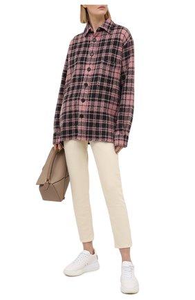 Женская рубашка из шерсти и кашемира DESTIN розового цвета, арт. D5W0MAT/W0RKER GRANT FLEECY   Фото 2