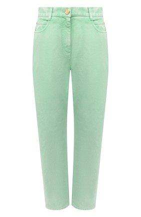 Женские джинсы BALMAIN светло-зеленого цвета, арт. VF15700/D090 | Фото 1