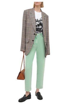 Женские джинсы BALMAIN светло-зеленого цвета, арт. VF15700/D090 | Фото 2