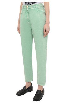 Женские джинсы BALMAIN светло-зеленого цвета, арт. VF15700/D090 | Фото 3