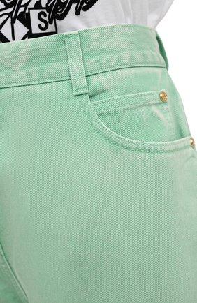Женские джинсы BALMAIN светло-зеленого цвета, арт. VF15700/D090 | Фото 5