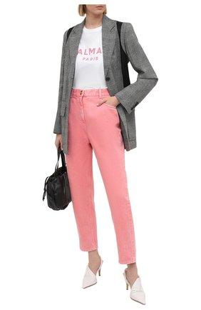 Женские джинсы BALMAIN розового цвета, арт. VF15700/D090 | Фото 2