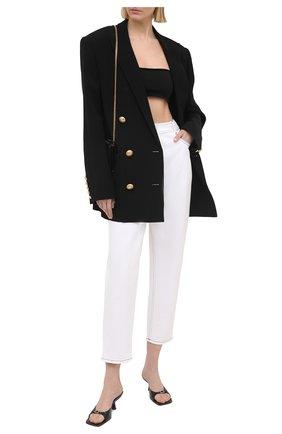 Женские джинсы BALMAIN белого цвета, арт. VF15700/D087 | Фото 2