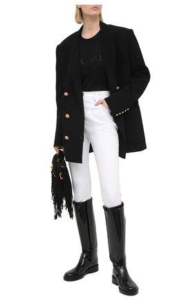 Женские джинсы BALMAIN белого цвета, арт. VF15460/D087 | Фото 2