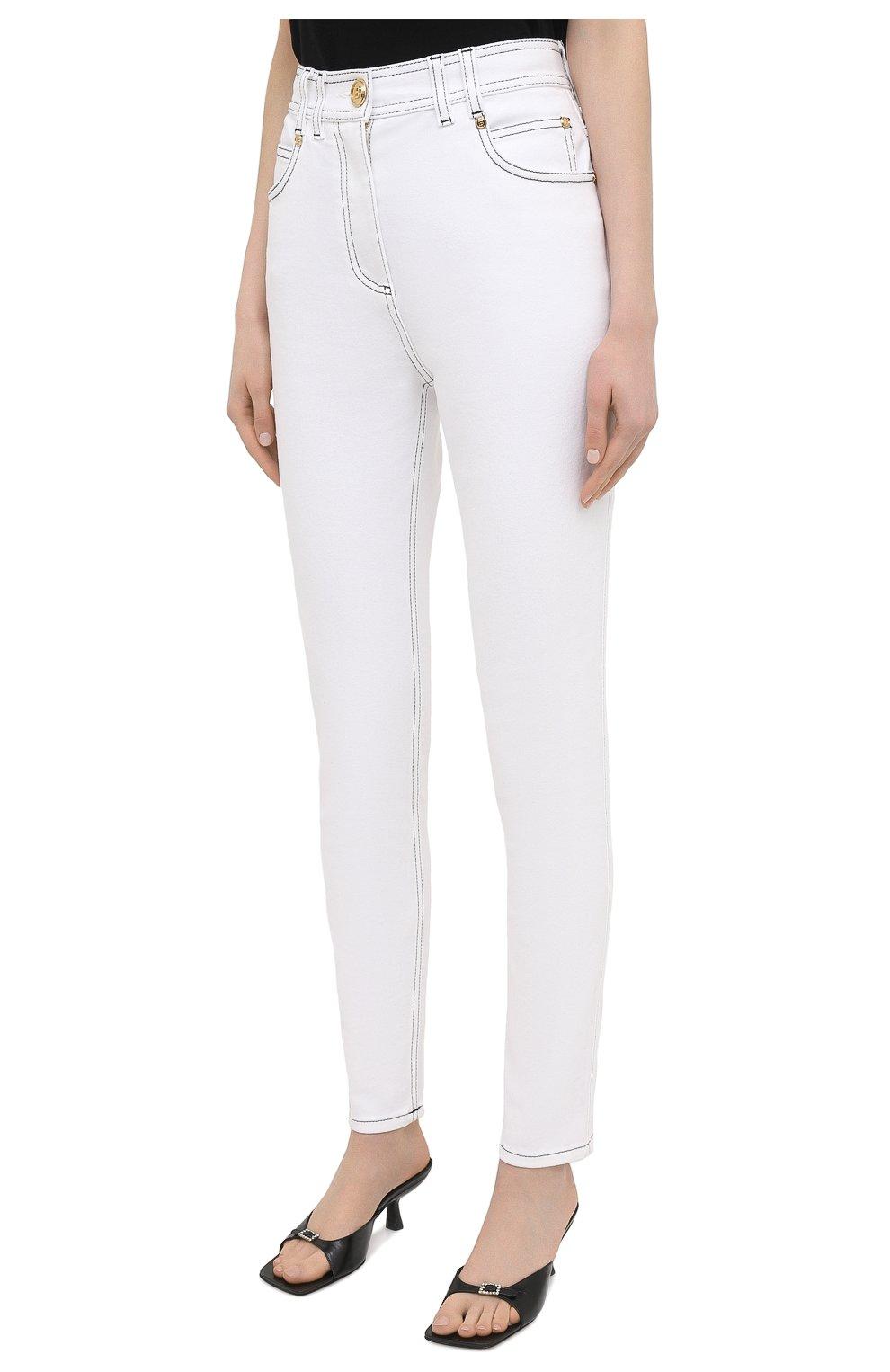 Женские джинсы BALMAIN белого цвета, арт. VF15460/D087 | Фото 3