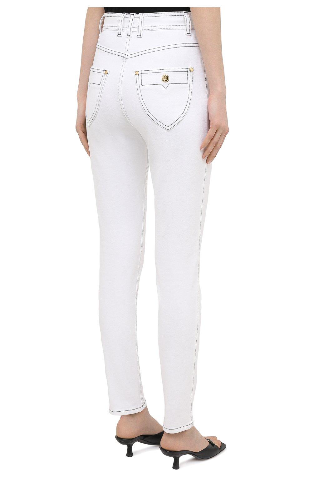 Женские джинсы BALMAIN белого цвета, арт. VF15460/D087 | Фото 4