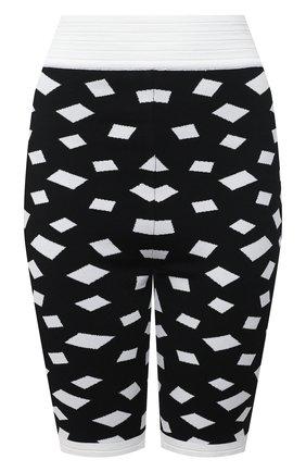 Женские шорты из вискозы BALMAIN черно-белого цвета, арт. VF15071/K229 | Фото 1