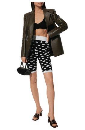 Женские шорты из вискозы BALMAIN черно-белого цвета, арт. VF15071/K229 | Фото 2