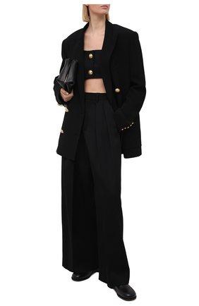 Женский шерстяной топ BALMAIN черного цвета, арт. VF10019/167L | Фото 2