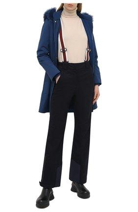 Женские утепленные брюки LORO PIANA темно-синего цвета, арт. FAL0097 | Фото 2