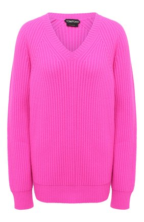 Женский кашемировый свитер TOM FORD фуксия цвета, арт. MAK1048-YAX294   Фото 1
