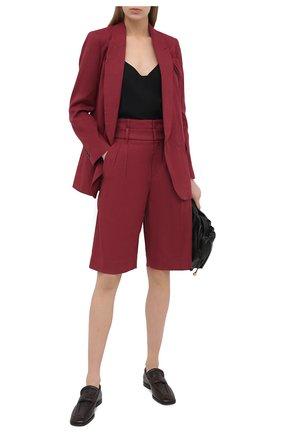 Женские шорты из хлопка и льна BRUNELLO CUCINELLI бордового цвета, арт. MF591P7593 | Фото 2
