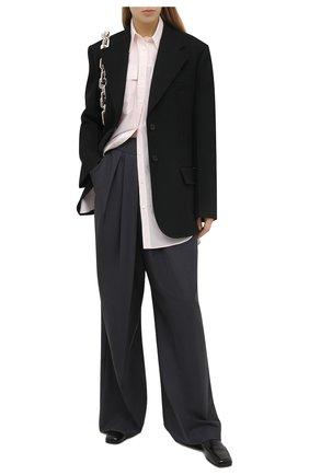 Женская рубашка из хлопка и шелка BRUNELLO CUCINELLI розового цвета, арт. MF766MQ306 | Фото 2