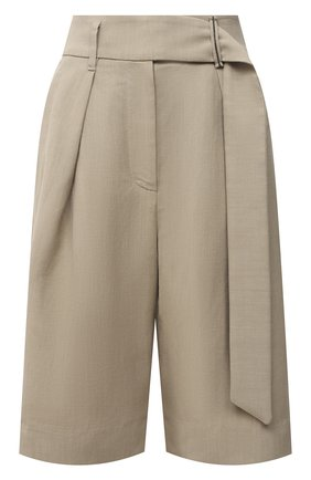 Женские шорты из вискозы и льна BRUNELLO CUCINELLI бежевого цвета, арт. MH126P7612 | Фото 1