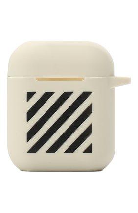 Чехол для airpods OFF-WHITE белого цвета, арт. 0WZG036R21PLA001 | Фото 1
