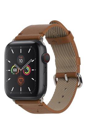 Ремешок для apple watch 44mm NATIVE UNION коричневого цвета, арт. STRAP-AW-L-BRN   Фото 1