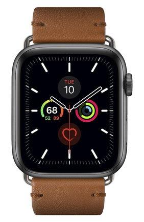 Ремешок для apple watch 44mm NATIVE UNION коричневого цвета, арт. STRAP-AW-L-BRN   Фото 2