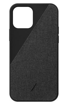 Чехол clic canvas для iphone 12 pro max  NATIVE UNION черного цвета, арт. CCAV-BLK-NP20L   Фото 1