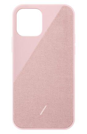Чехол clic canvas для iphone 12/12 pro NATIVE UNION розового цвета, арт. CCAV-ROS-NP20M   Фото 1