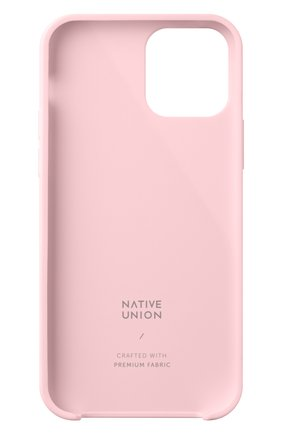 Чехол clic canvas для iphone 12/12 pro NATIVE UNION розового цвета, арт. CCAV-ROS-NP20M   Фото 2
