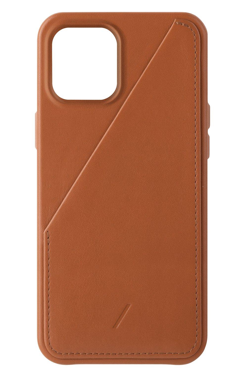 Чехол clic card для iphone 12 pro max  NATIVE UNION коричневого цвета, арт. CCARD-TAN-NP20L | Фото 1