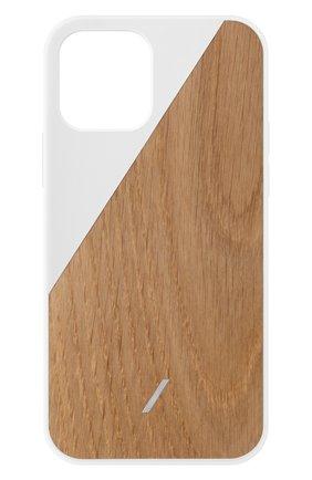 Мужской чехол clic wooden для iphone 12 mini NATIVE UNION белого цвета, арт. CWOOD-WHT-NP20S | Фото 1