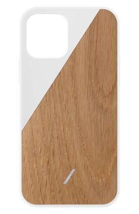 Чехол clic wooden для iphone 12 mini NATIVE UNION белого цвета, арт. CWOOD-WHT-NP20S   Фото 1