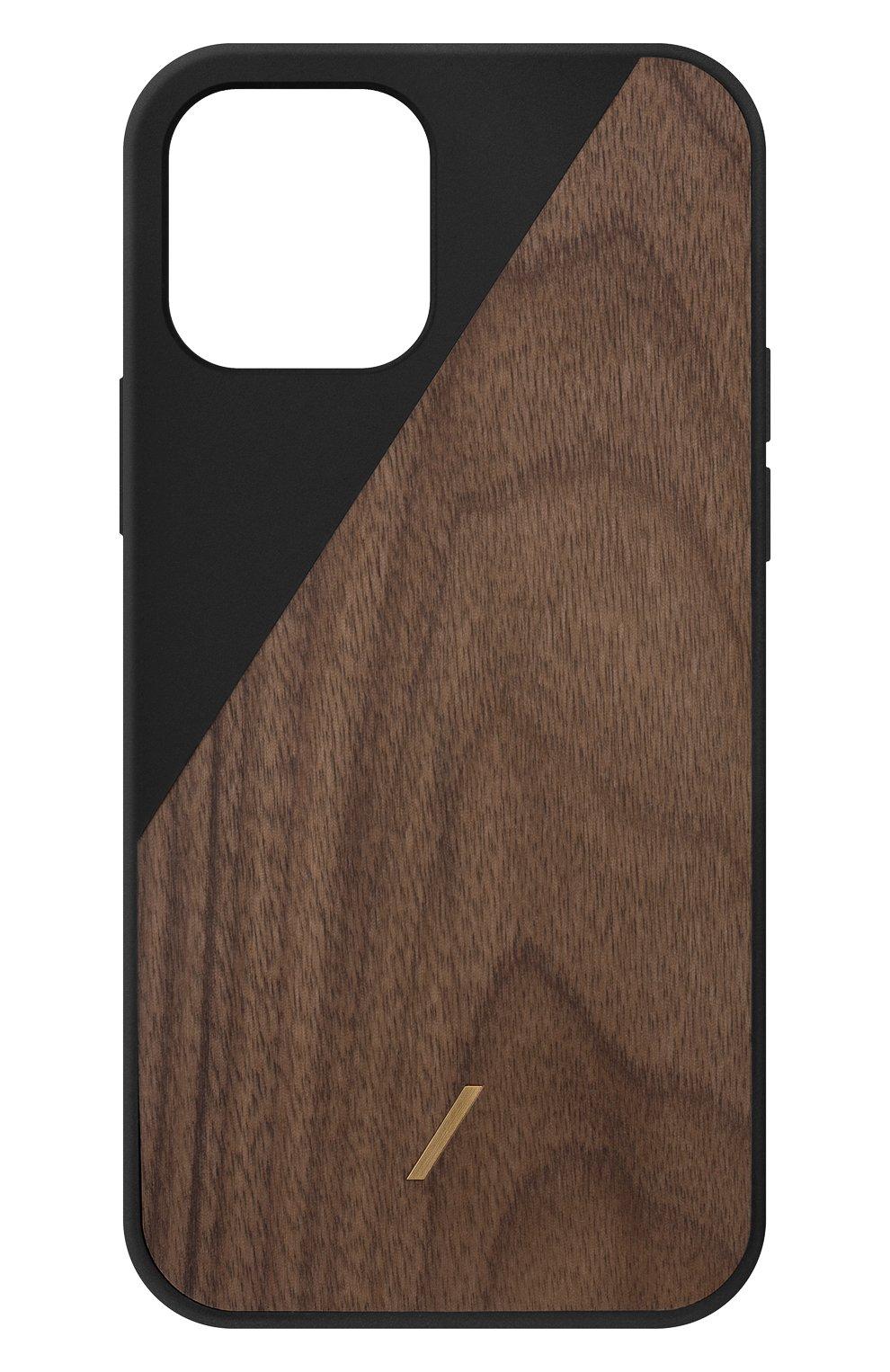 Чехол clic wooden для iphone 12 pro max  NATIVE UNION черного цвета, арт. CWOOD-BLK-NP20L   Фото 1