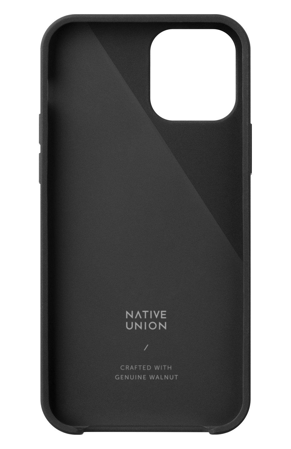 Чехол clic wooden для iphone 12 pro max  NATIVE UNION черного цвета, арт. CWOOD-BLK-NP20L   Фото 2