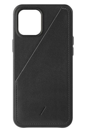 Чехол clic card для iphone 12 pro max  NATIVE UNION черного цвета, арт. CCARD-BLK-NP20L   Фото 1