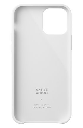 Чехол clic wooden для iphone 12 pro max  NATIVE UNION белого цвета, арт. CWOOD-WHT-NP20L   Фото 2