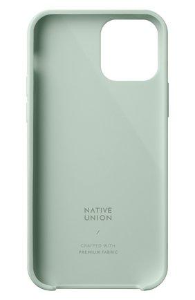 Чехол clic canvas для iphone 12 mini NATIVE UNION светло-зеленого цвета, арт. CCAV-GRN-NP20S   Фото 2
