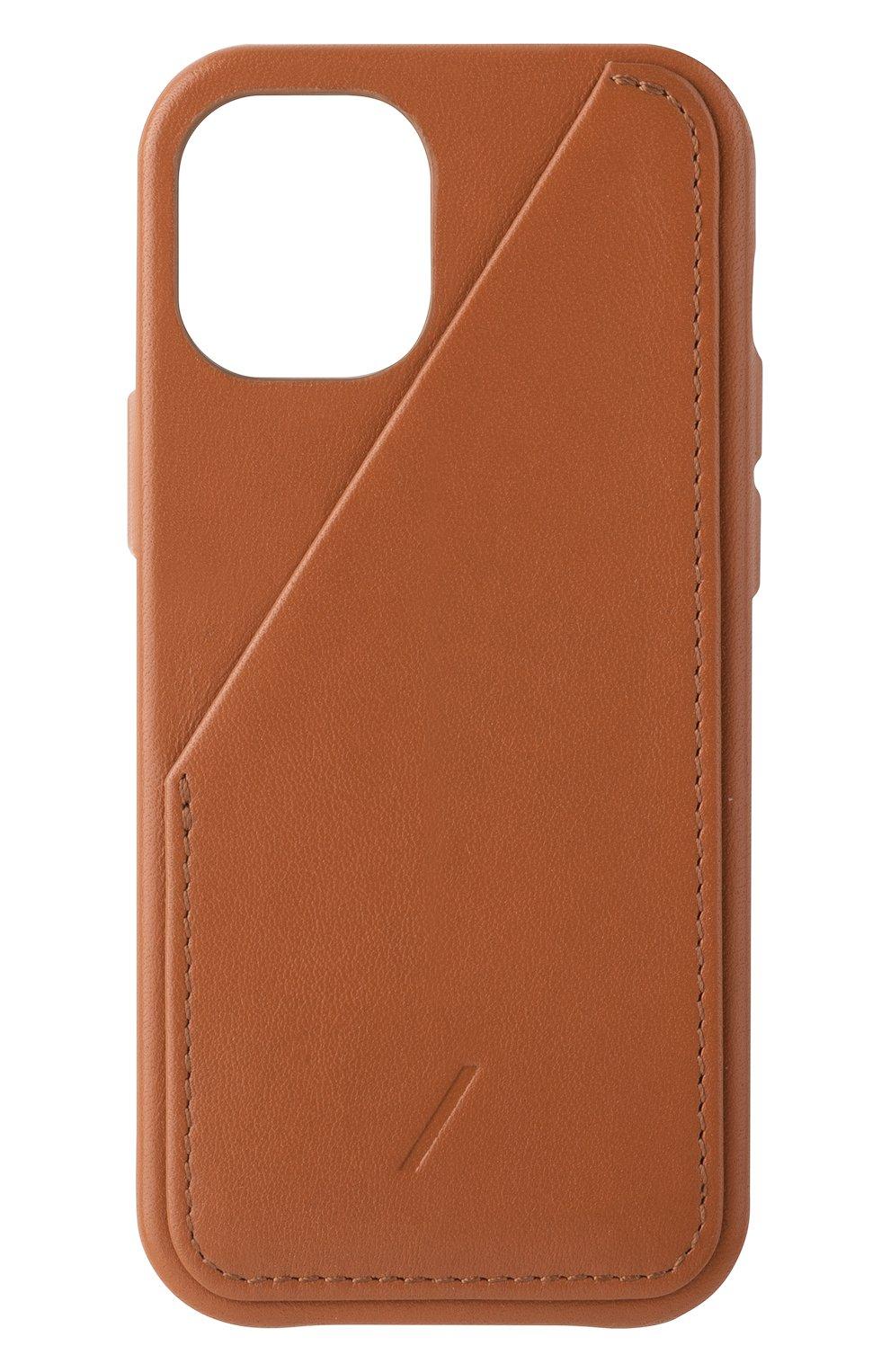 Чехол clic card для iphone 12 mini NATIVE UNION коричневого цвета, арт. CCARD-TAN-NP20S   Фото 1