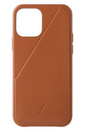 Чехол clic card для iphone 12/12 pro NATIVE UNION коричневого цвета, арт. CCARD-TAN-NP20M   Фото 1