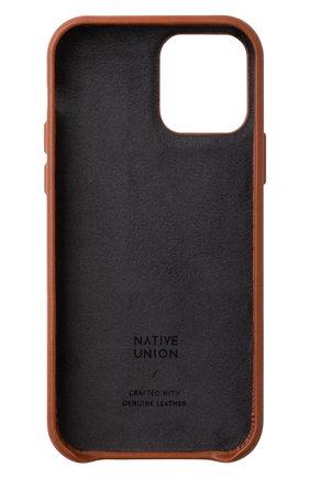 Чехол clic card для iphone 12/12 pro NATIVE UNION коричневого цвета, арт. CCARD-TAN-NP20M   Фото 2