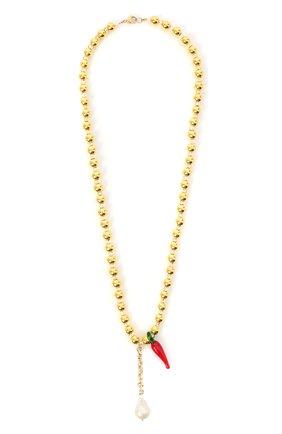 Женское колье золотая нить HIAYNDERFYT золотого цвета, арт. 1421.3.9 | Фото 1