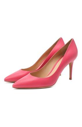 Женские кожаные туфли gianvito 85 GIANVITO ROSSI розового цвета, арт. G24580.85RIC.VITRUR0 | Фото 1