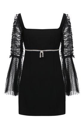 Женское платье SELF-PORTRAIT черного цвета, арт. RS21-140 | Фото 1