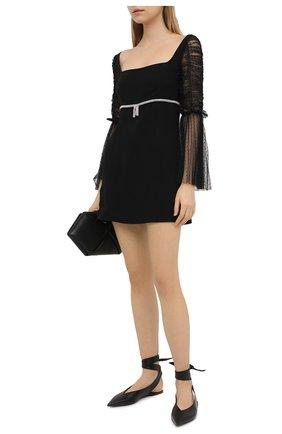 Женское платье SELF-PORTRAIT черного цвета, арт. RS21-140 | Фото 2