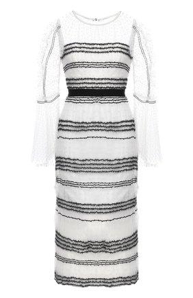 Женское платье SELF-PORTRAIT черно-белого цвета, арт. RS21-137W | Фото 1