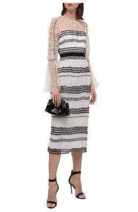 Женское платье SELF-PORTRAIT черно-белого цвета, арт. RS21-137W | Фото 2