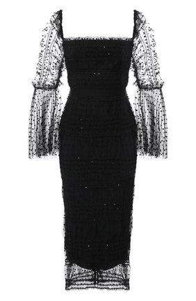Женское платье SELF-PORTRAIT черного цвета, арт. RS21-137 | Фото 1
