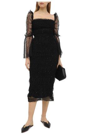 Женское платье SELF-PORTRAIT черного цвета, арт. RS21-137 | Фото 2