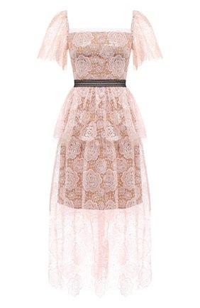 Женское платье SELF-PORTRAIT светло-розового цвета, арт. RS21-136 | Фото 1