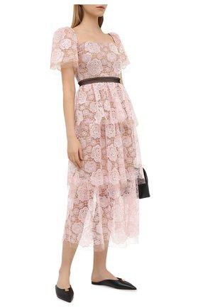 Женское платье SELF-PORTRAIT светло-розового цвета, арт. RS21-136 | Фото 2