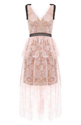 Женское платье SELF-PORTRAIT светло-розового цвета, арт. RS21-135 | Фото 1