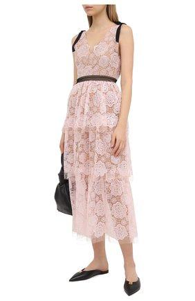 Женское платье SELF-PORTRAIT светло-розового цвета, арт. RS21-135 | Фото 2